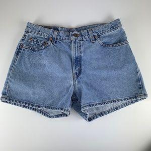 Vtg Levi's 556 Sz 12 Denim Jean Shorts Guy's Fit